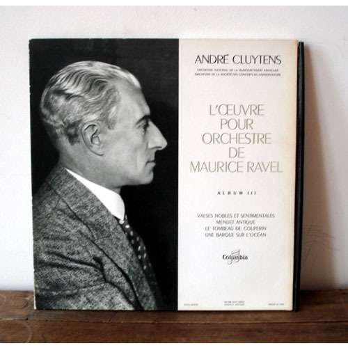 ANDRE CLUYTENS RAVEL l'oeuvre pour orchestre vol.3
