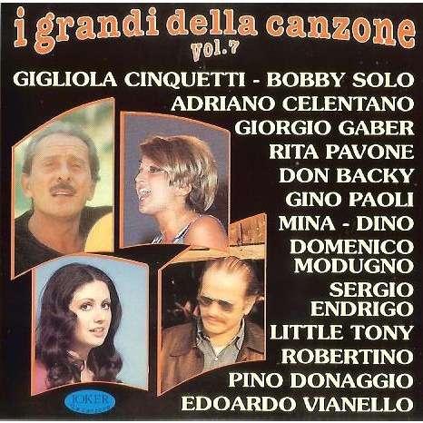 I Grandi Della Canzone Vol7 By Adriano Celentano Gigliola