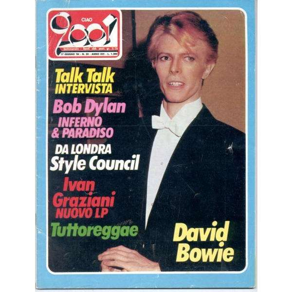 David Bowie Ciao 2001 (17.06.1984) (Italian 1984 Bowie front cover magazine)