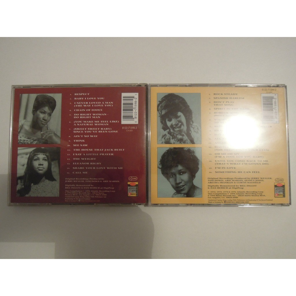 aretha franklin the very best of vol. 1 & 2