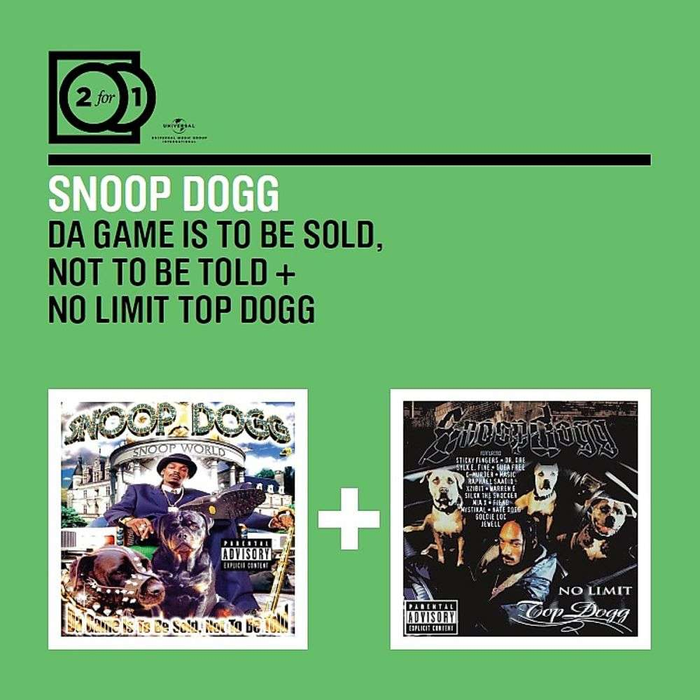 Snoop Dogg – Da Game Is To Be Sold, Not To Be Told / No Limit Top Dogg - 2  Original Classic Albums –2x Cd Compil
