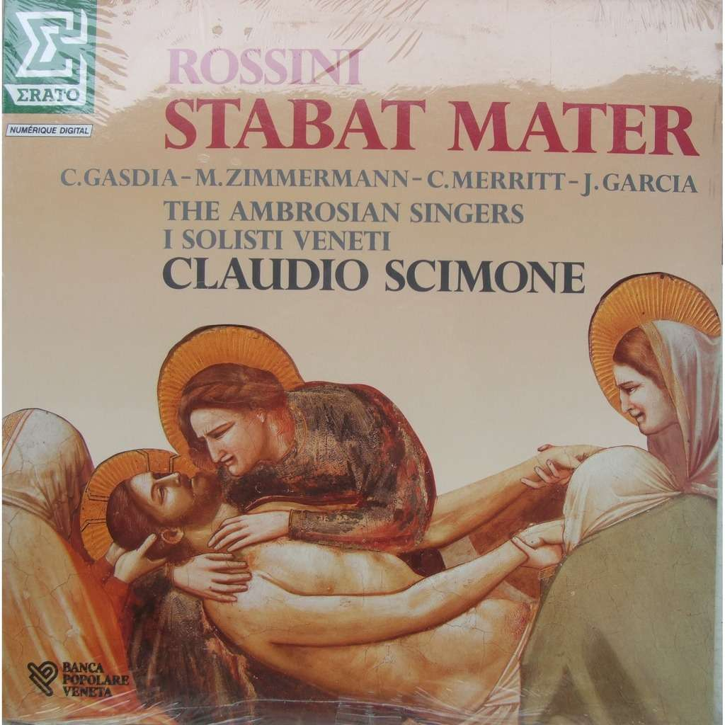 Stabat mater by Rossini - Scimone, LP with mabuse - Ref