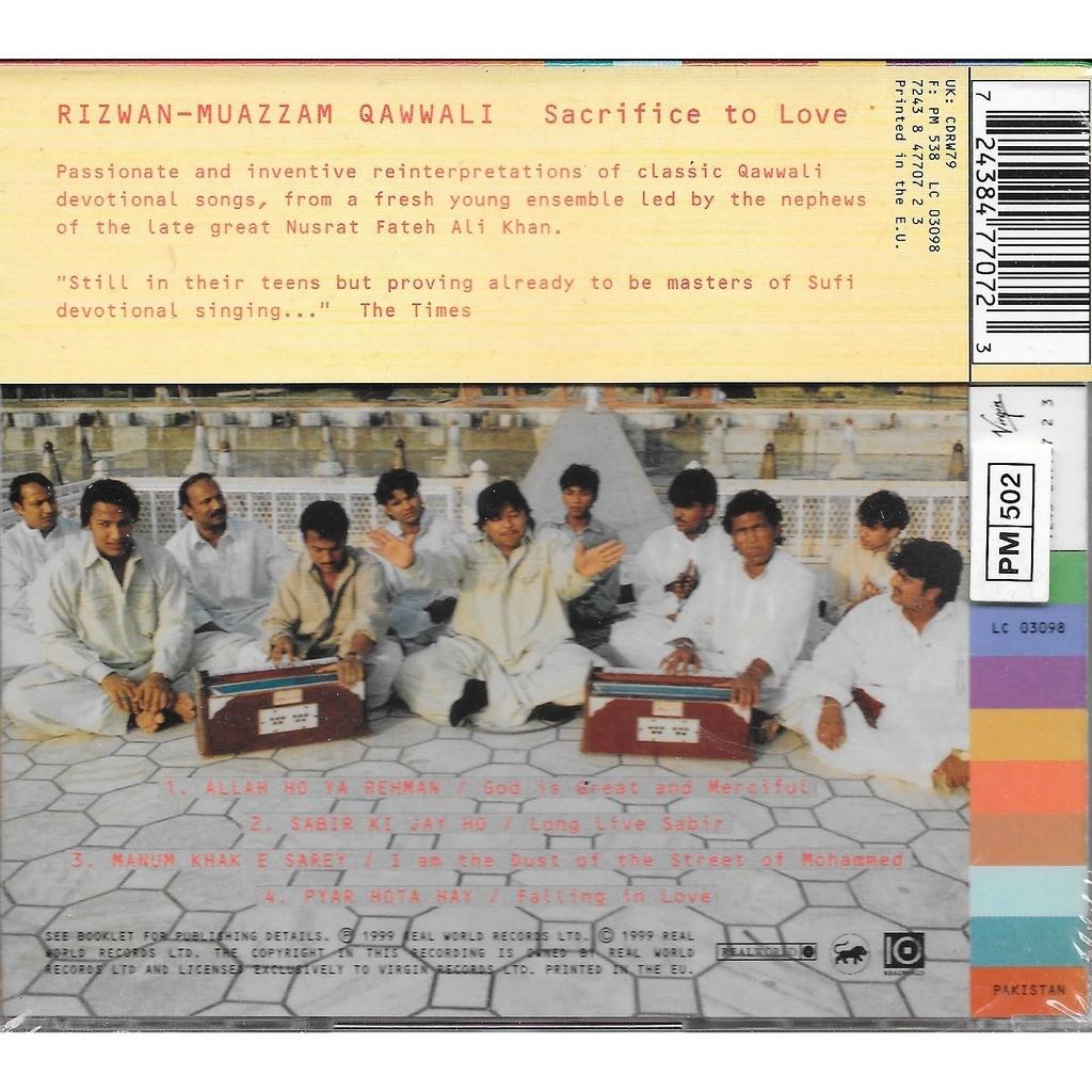 rizwan-muazzam qawwali sacrifice to love