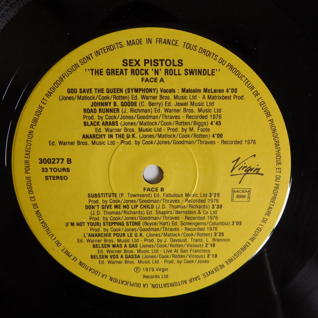 Sex Pistols The Great Rock N Roll 90
