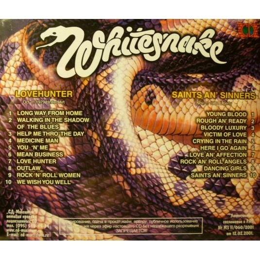 Lovehunter Saints An Sinners By Whitesnake Cd With