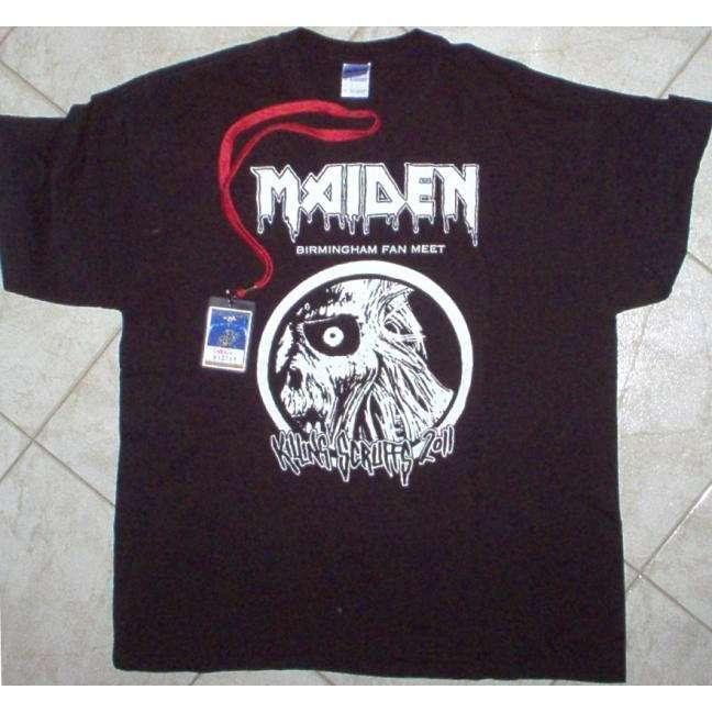 iron maiden Birmingham Fan Meet 2011 (UK 2011 original 'Fan Meet' T-Shirt & 'Crew' meeting Pass)