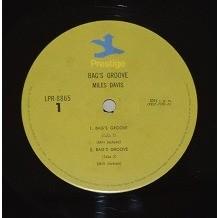 Miles Davis and The Modarn Jazz Giants BAGS' GROOVE