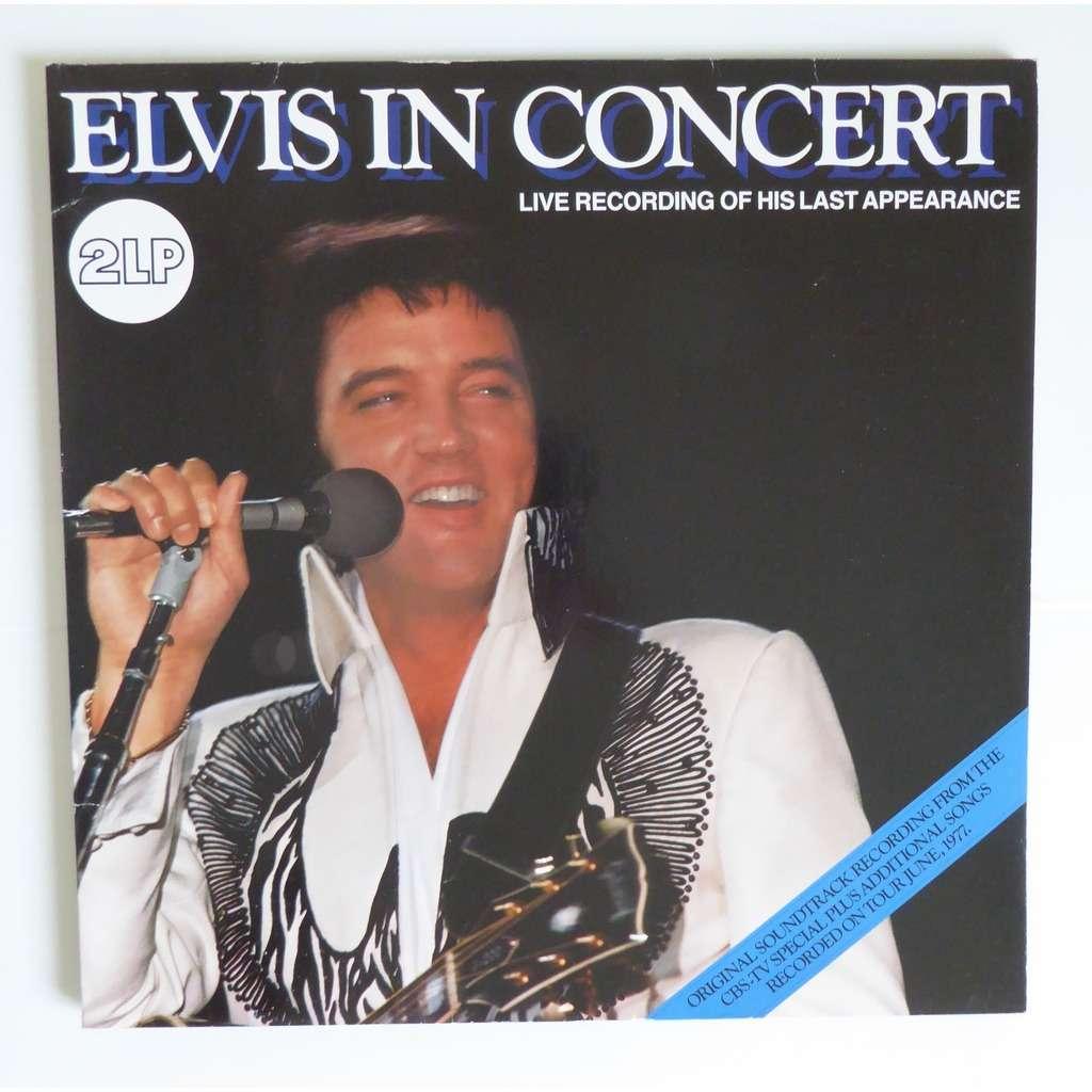 Elvis In Concert By Elvis Presley Lp X 2 With Ouioui14