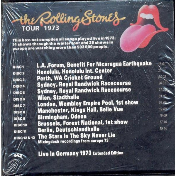 Tour 1973 (ltd 500 copies 13cd & 1dvd box set & booklet) by Rolling Stones,  CD box with gmvrecords