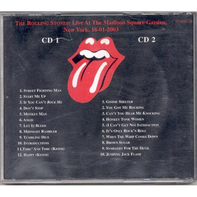 Live at madison square garden ny 18012003 by rolling stones cd rolling stones live at madison square garden ny 18012003 workwithnaturefo