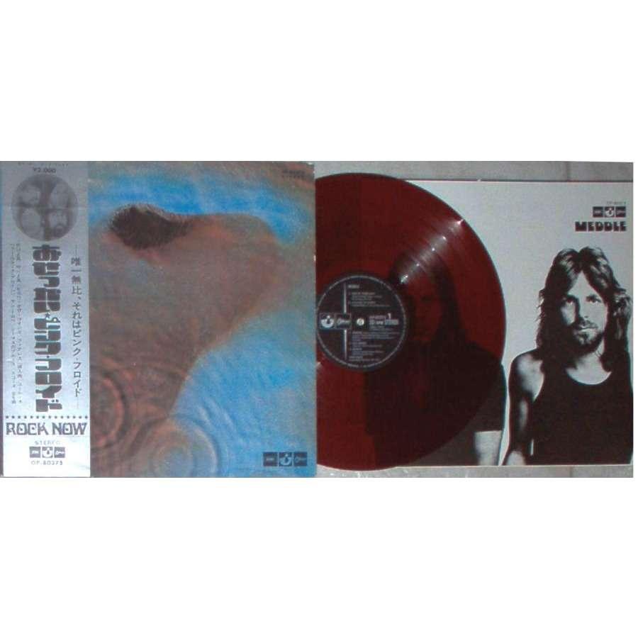 Pink Floyd Meddle (Japan 1971 original Ltd 6-trk LP RED vinyl gf ps & obi &  inserts)