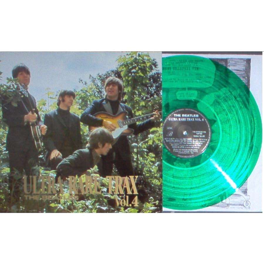 Beatles Ultra Rare Trax Vol.4 (Swinging Pig lbl 1989 original LP GREEN vinyl deluxe ps)