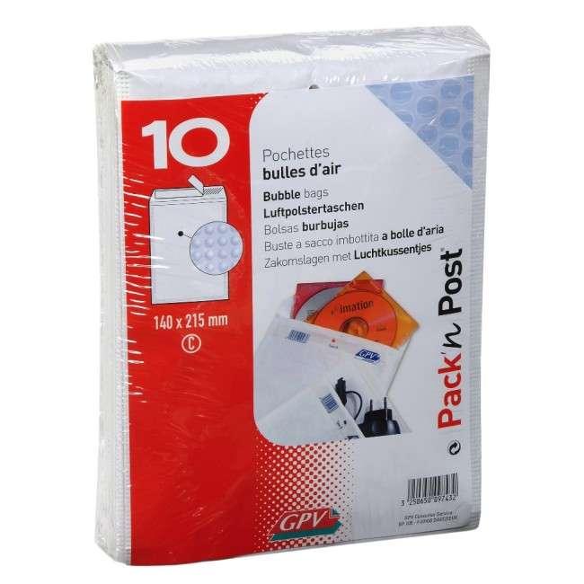 enveloppe d'expédition pour boîtier CD x 10 enveloppes matelassées pour expédition CD