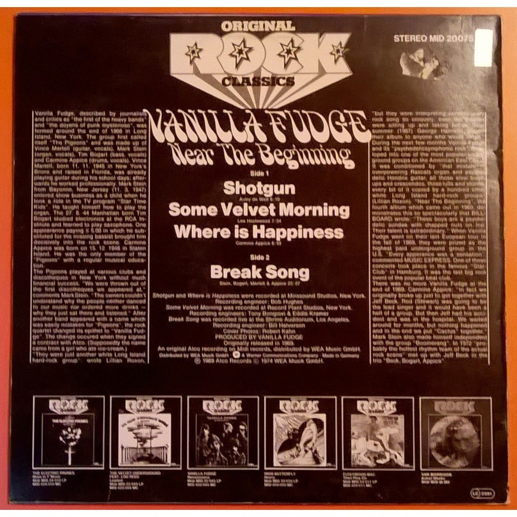 Near The Beginning By Vanilla Fudge Lp With Captaindiggin