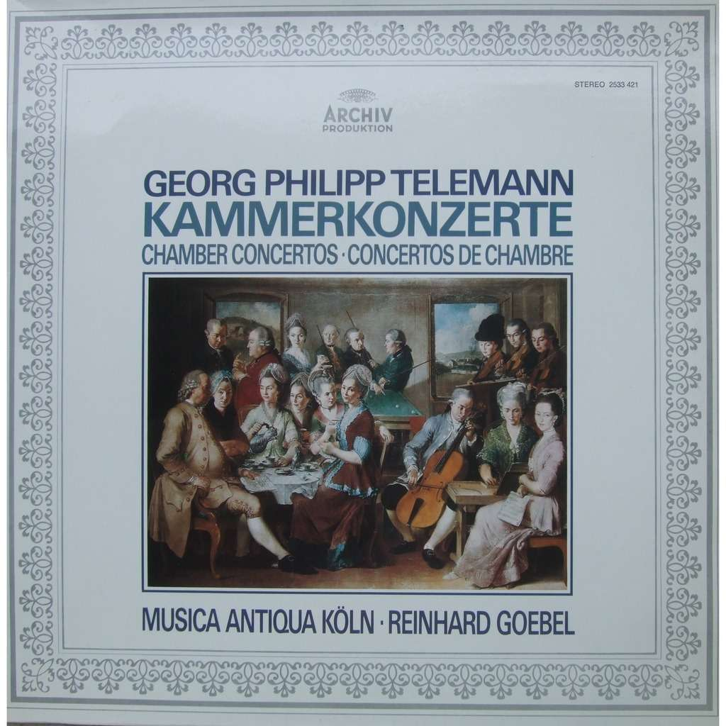 Georg Philipp Telemann Musica Antiqua K 227 182 Ln 226 183 Reinhard
