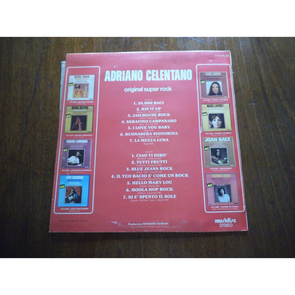 adriano celentano Original Super Rock