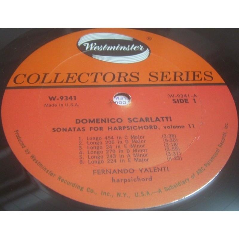 Domenico scarlatti sonatas for harpsichord / vol  11 by Fernando Valenti,  LP with recordrome