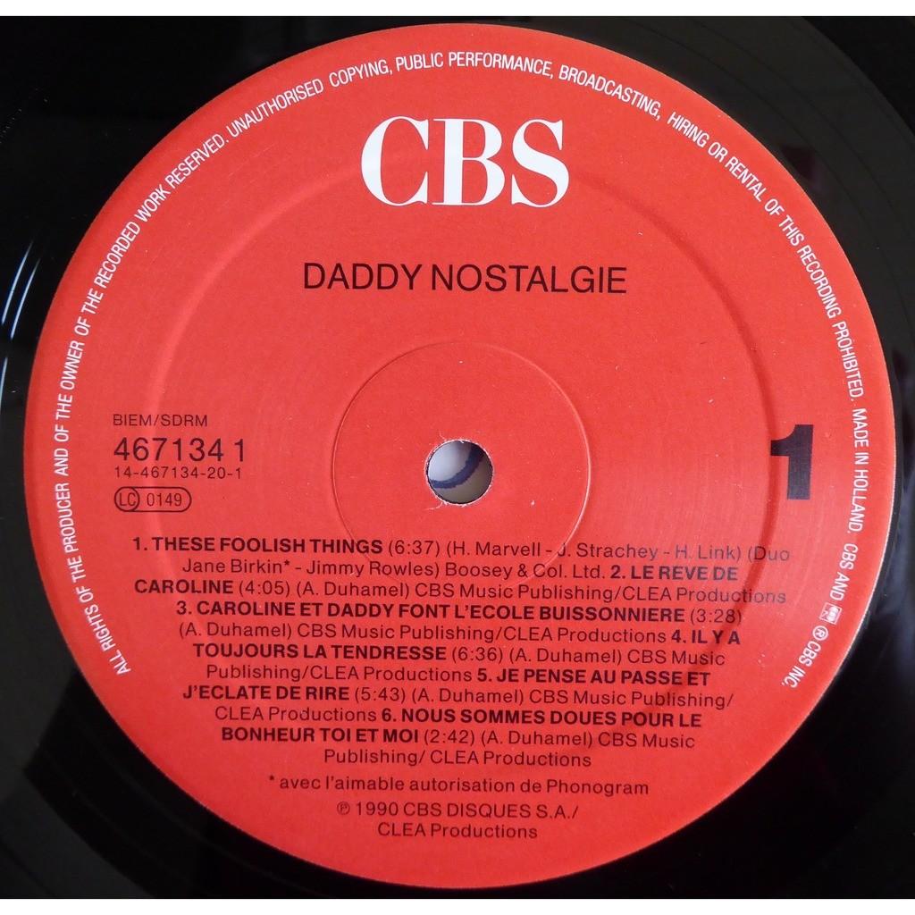 Antoine Duhamel / Ron Carter Daddy Nostalgie