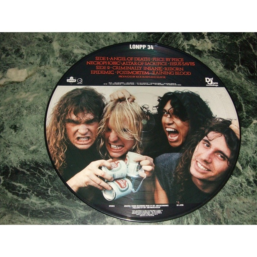 reign in blood picture disc by slayer lp with collector29 ref 118207948. Black Bedroom Furniture Sets. Home Design Ideas
