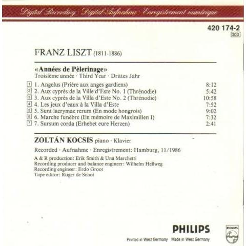 Franz Liszt Ann 233 Es De P 232 Lerinage Troisi 232 Me Ann 233 E By