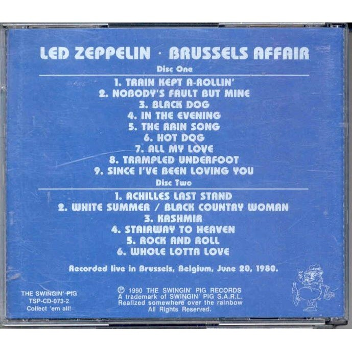 Led Zeppelin Brussels Affair (Brussels Belgium 20.06.1980)