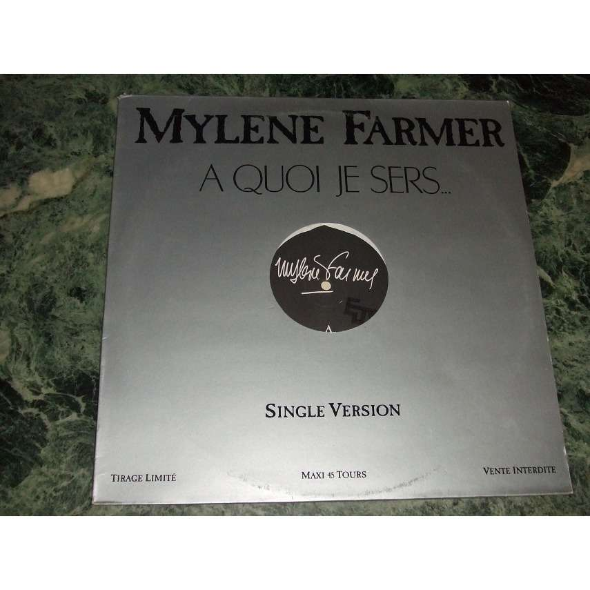 Mylene Farmer A Quoi Je Sers... (Promo)