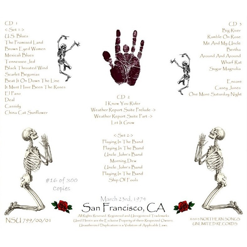 Live cow palace 1974  march,23 3cd by The Grateful Dead, CD x 3 with  zorro800