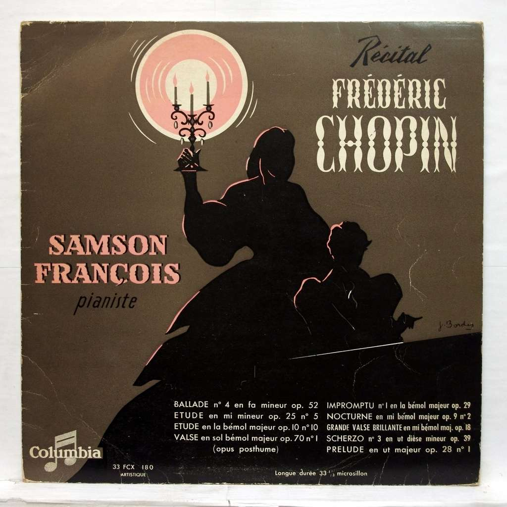 Samson Francois, chopin : ballade no 4 op 52 / etude op 25 no 5, op 10  no 10 / valse op 70 no 1