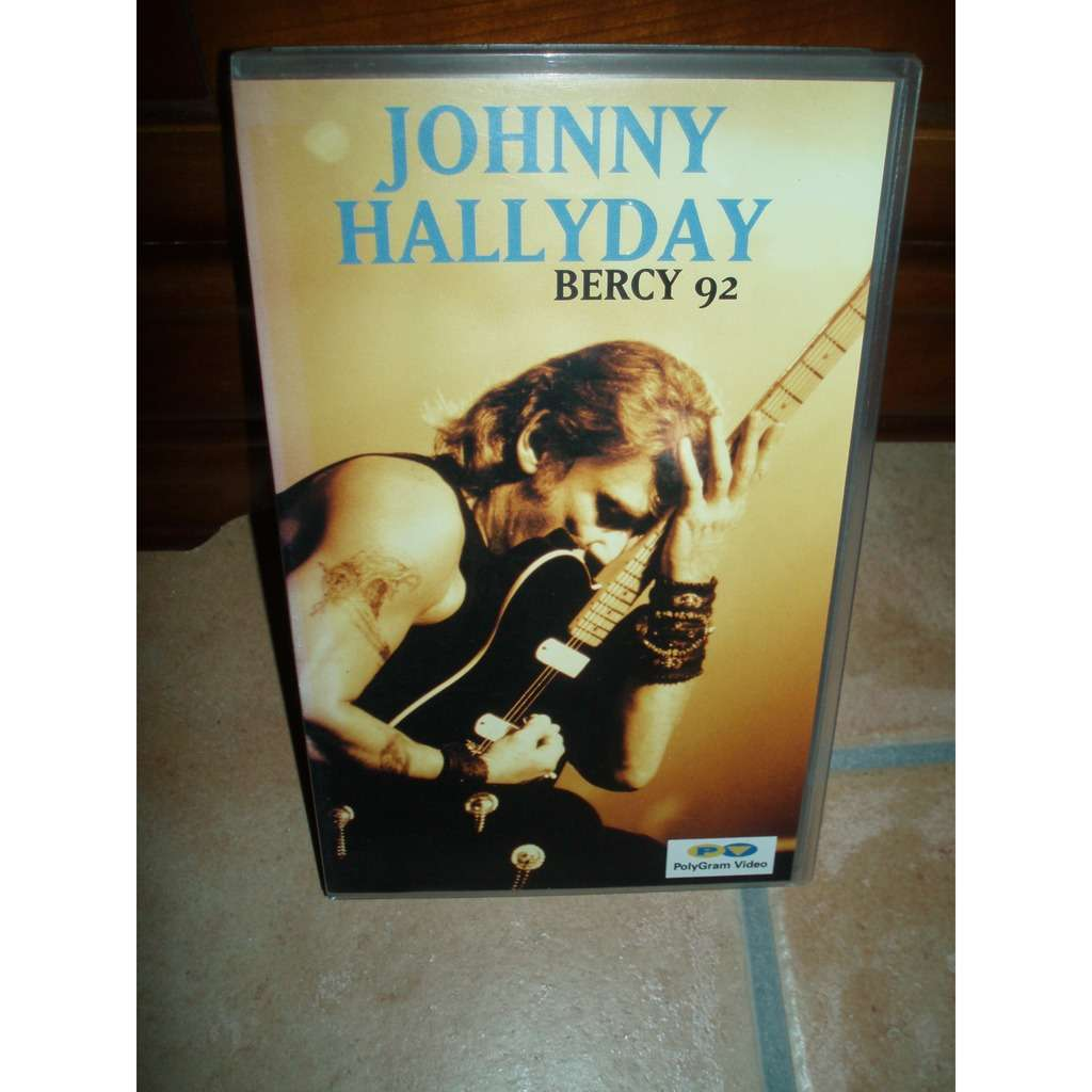 JOHNNY HALLYDAY BERCY 92 ( CASSETTE VIDEO VHS )