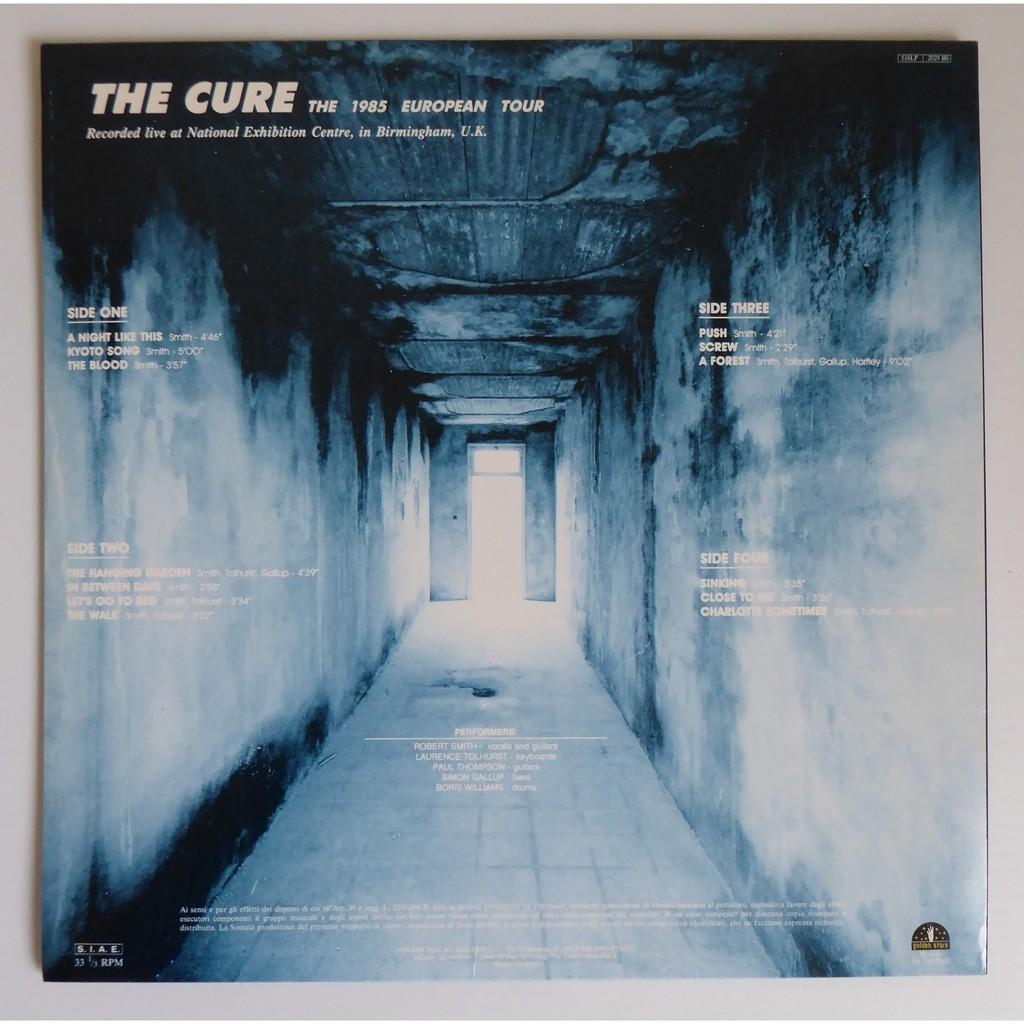 cure The 1985 European Tour - LIVE