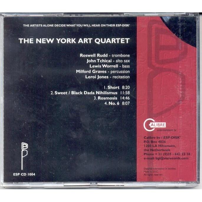 New York Art Quartet New York Art Quartet (Euro Ltd 'Esp-Disk' 4-trk CD card slipcase ps)