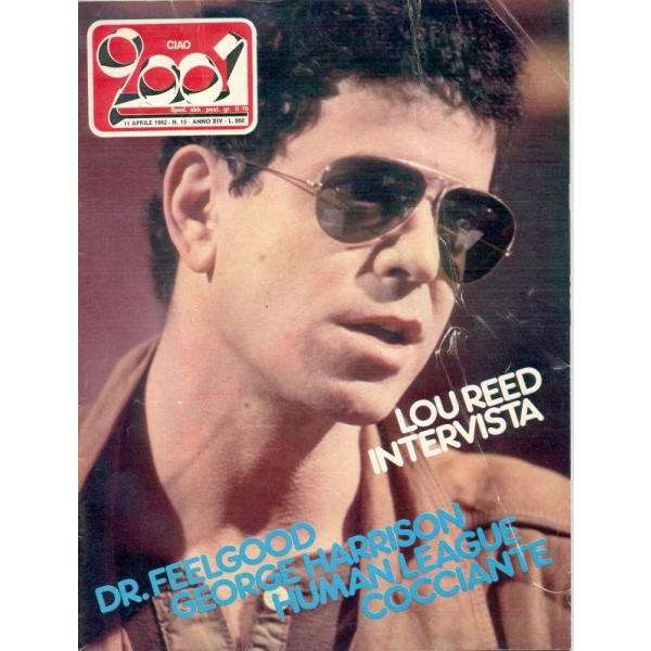 Velvet Underground Lou Reed Ciao 2001 (11.04.1982) (Italian 1982 Lou Reed front cover magazine)