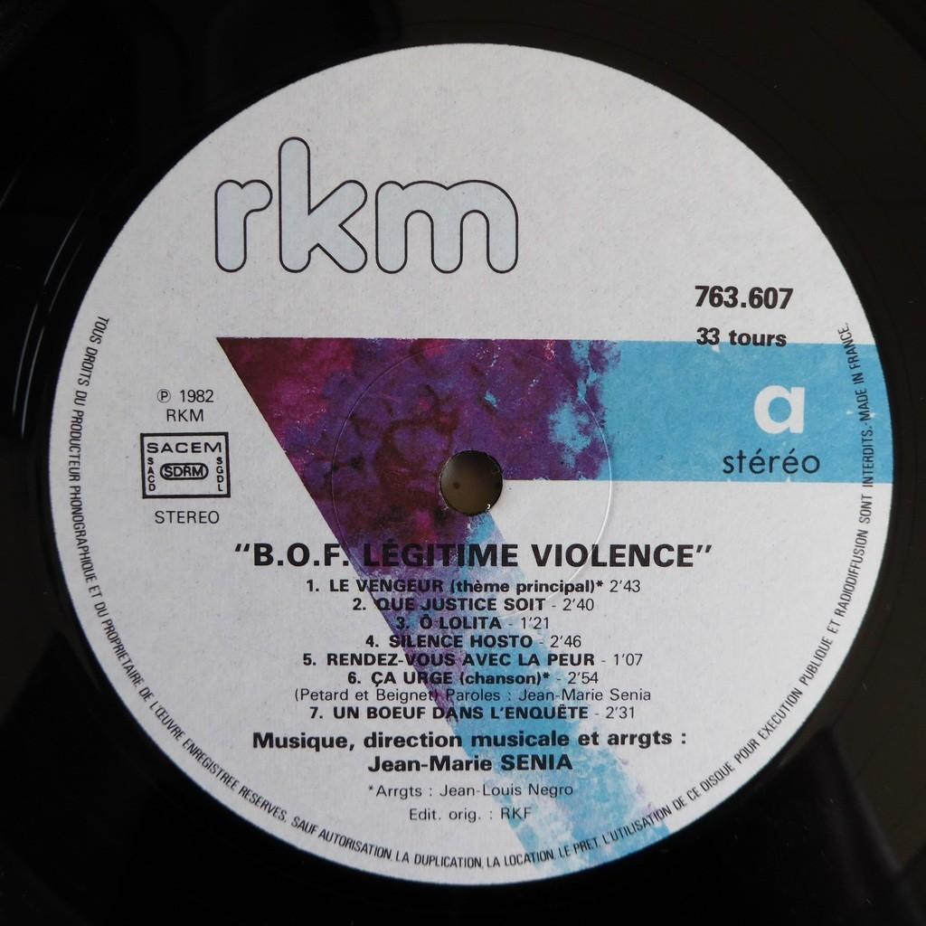 jean-marie senia Légitime Violence