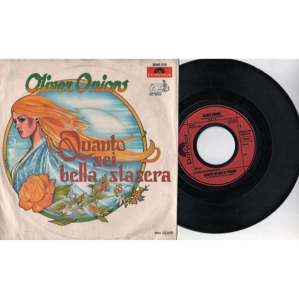 Oliver Onions / Guido & Maurizio De Angelis Quanto Sei Bella Stasera (German 1981 2-trk 7single full ps)