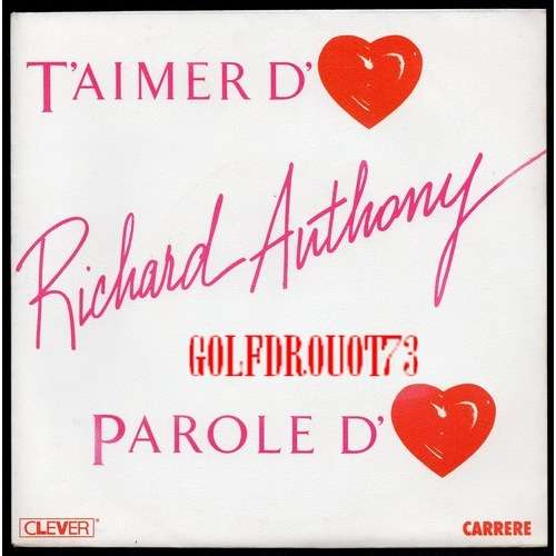 Richard Anthony Jean Michel Beriat Taimer Damour Paroles Damour Le Coeur A La Main