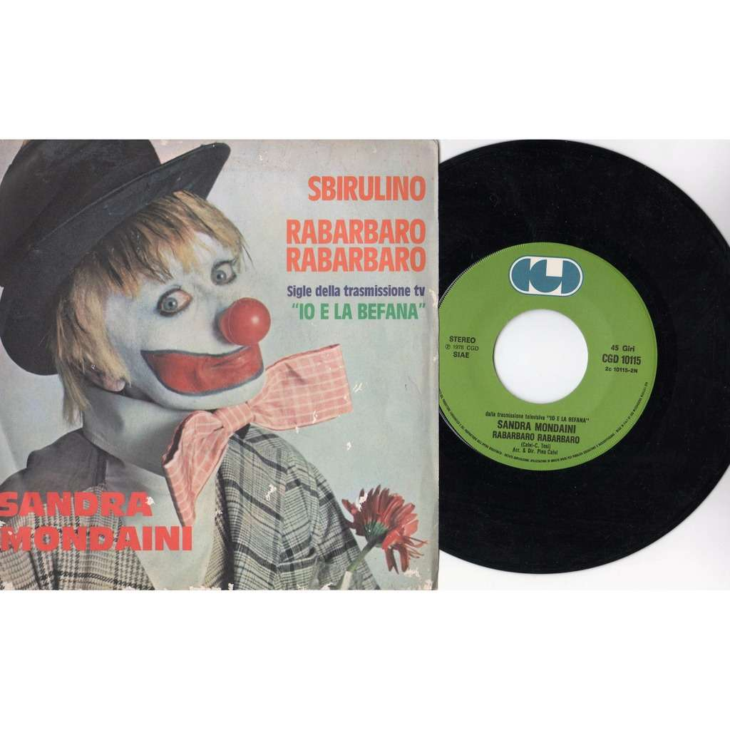 Sandra Mondaini Sbirulino (Italian 1978 2-trk 7single full ps)