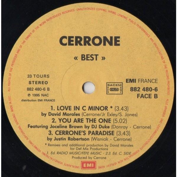Best - the essentials dj remixes ( 6 tracks) by Cerrone, LP with yvandimarco