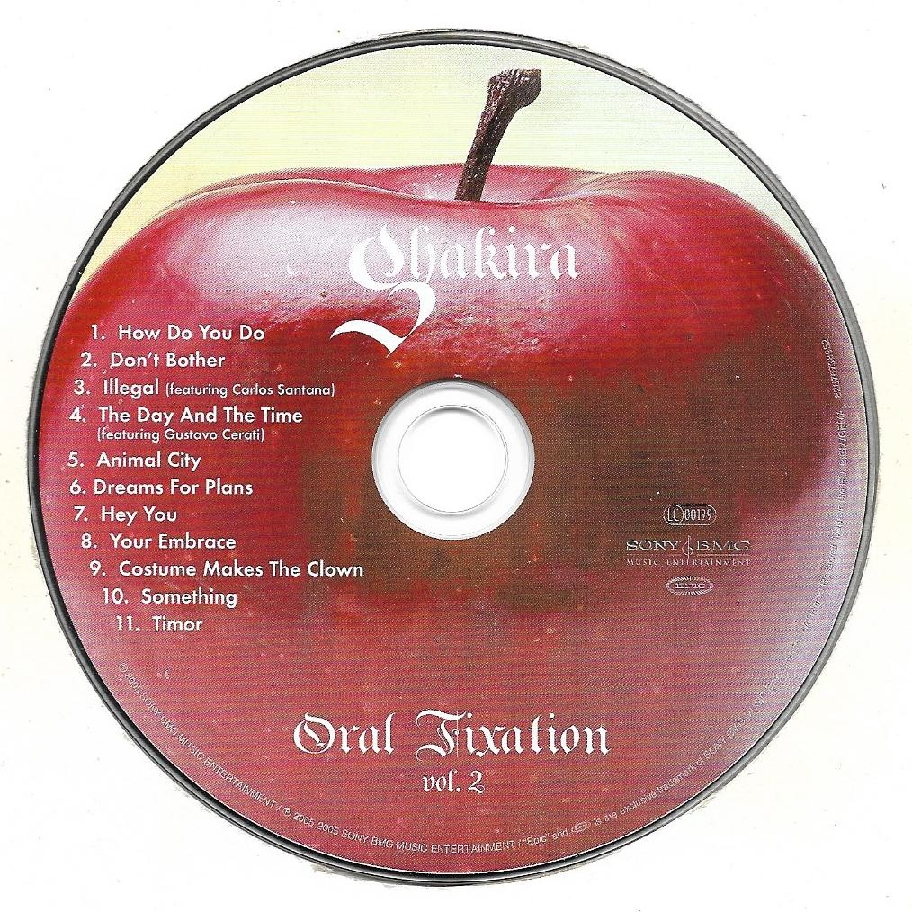 Shakira Oral fixation