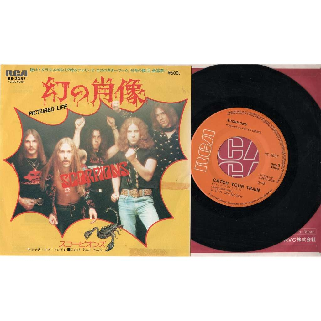 Scorpions Pictured Life (Japan 1977 2-trk 7single unique full ps)