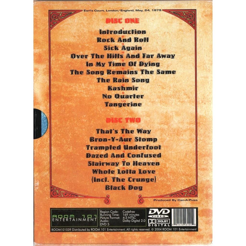 Led Zeppelin Earl's Court 75 Euro 2004 Ltd live 2DVD set unique deluxe slipcase box ps)