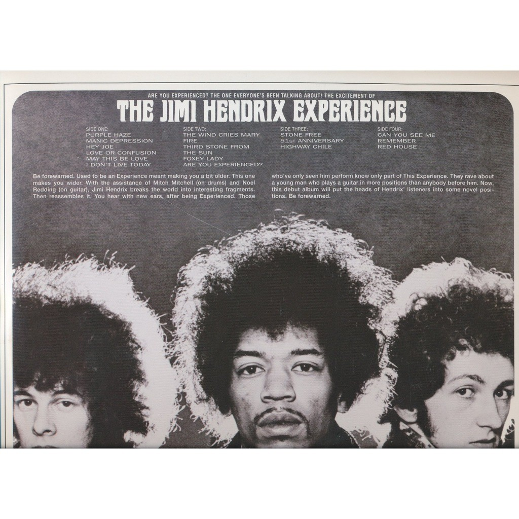 THE JIMI HENDRIX EXPERIENCE are you experienced ?