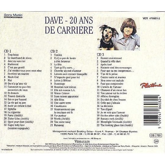 Dave 20 Ans De Carriere (coffret 3CD)