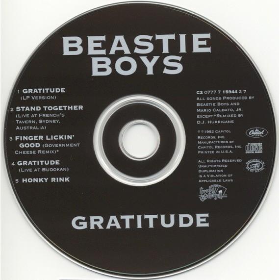 Beastie Boys Gratitude