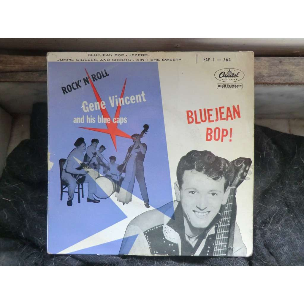 80cfbbd0a99 Gene VINCENT and His BLUE CAPS Bluejean Bop + 3 (rare original French press  -