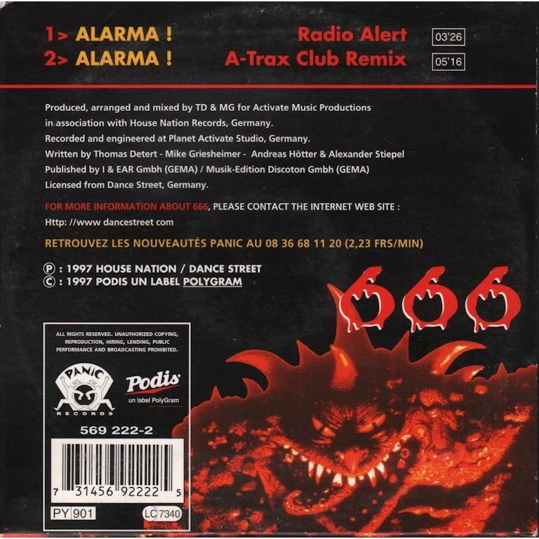 666 ALARMA le N° 1 des clubs Alarma (radio alert / A-trax club remix)