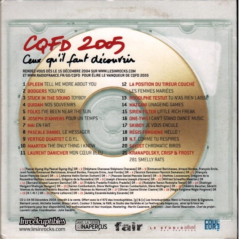 various artists les inrockuptibles présentent CQFD 2005 ceux qu'il faut découvrir