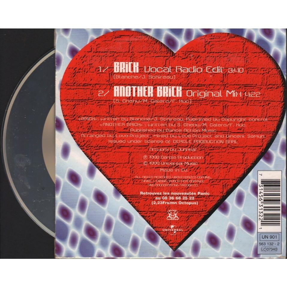love project brick (vocal radio edit 3.40m)/ another brick original mix 4m22)