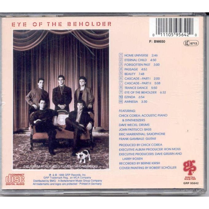 Chick Corea Elektric Band Eye Of The Beholder (German 1988 11-trk CD album ps & booklet)