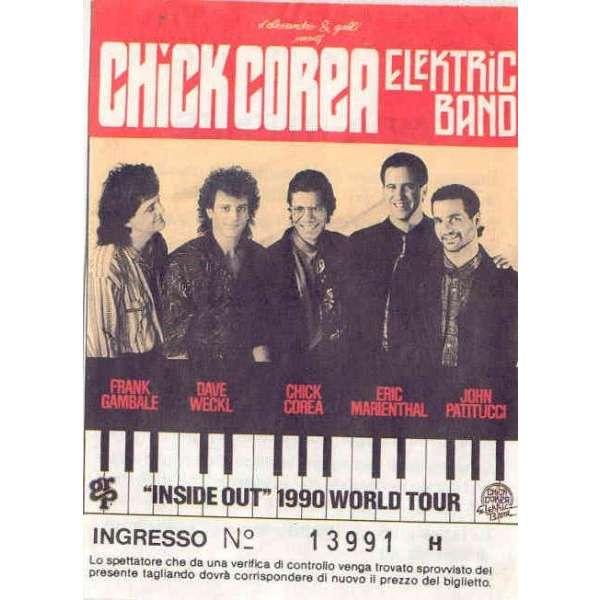 Chick Corea Elektric Band Inside Out 1990 World Tour (Italian 1990 original & genuine concert ticket)
