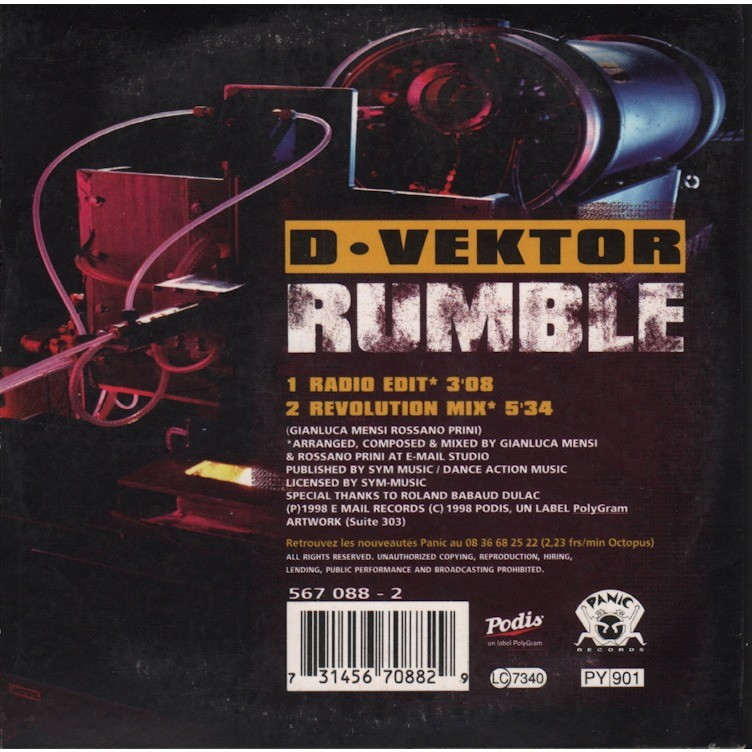 D - VEKTOR RUMBLE (radio edit, revolution mix)